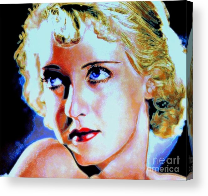 Bette Acrylic Print featuring the painting Bette by Wbk