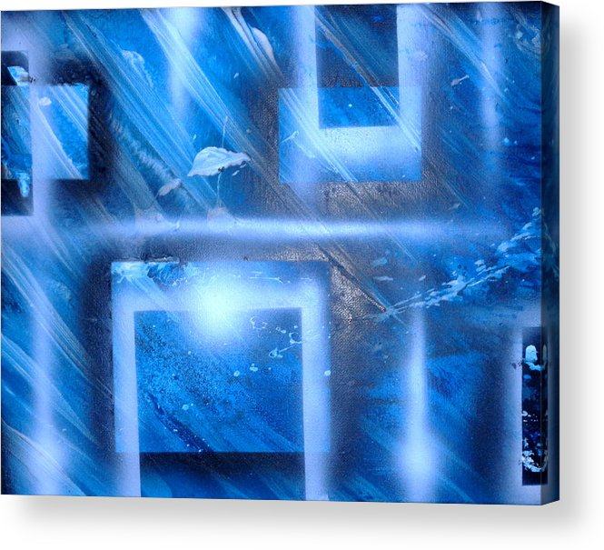 Blue Acrylic Print featuring the painting Big Blue II by Leigh Odom