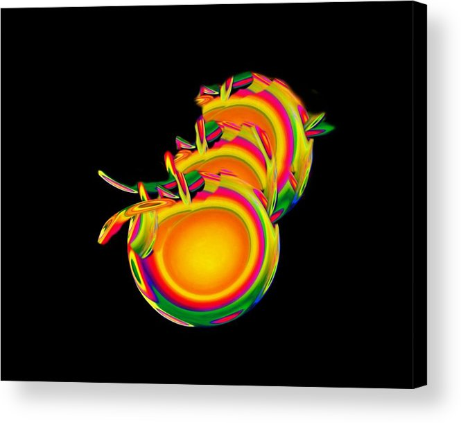 Egg Acrylic Print featuring the mixed media Birth by Jacqueline Migell