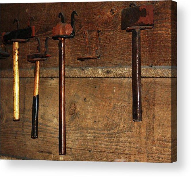 Blacksmith Photographs Acrylic Print featuring the photograph Blacksmith Tools by Kim Henderson