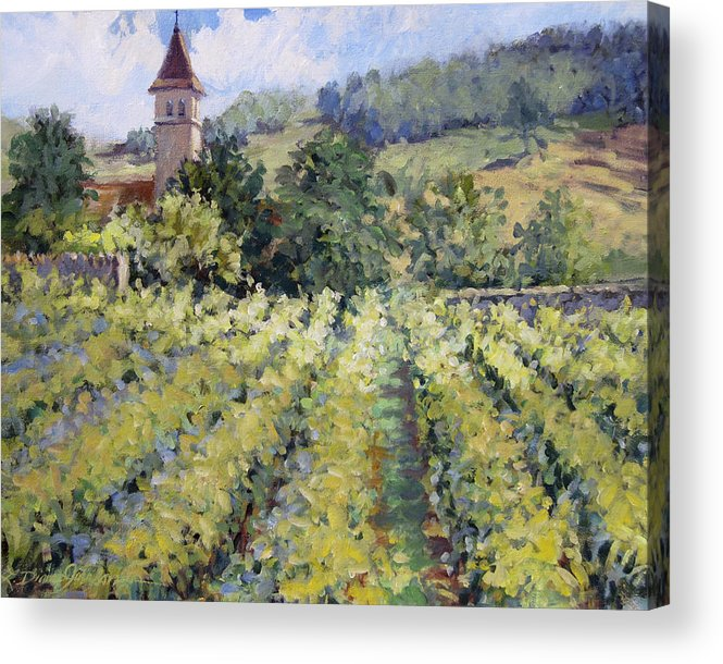 France Acrylic Print featuring the painting Bless The Harvest by L Diane Johnson