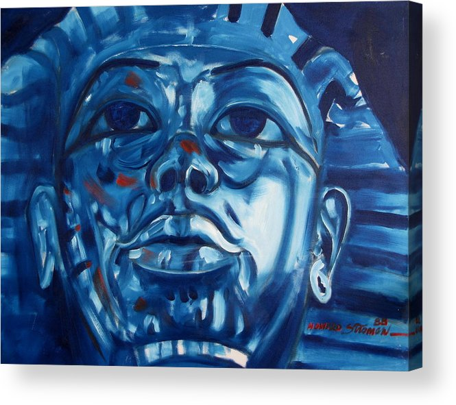 King Tut Acrylic Print featuring the painting Blue Boy by Howard Stroman