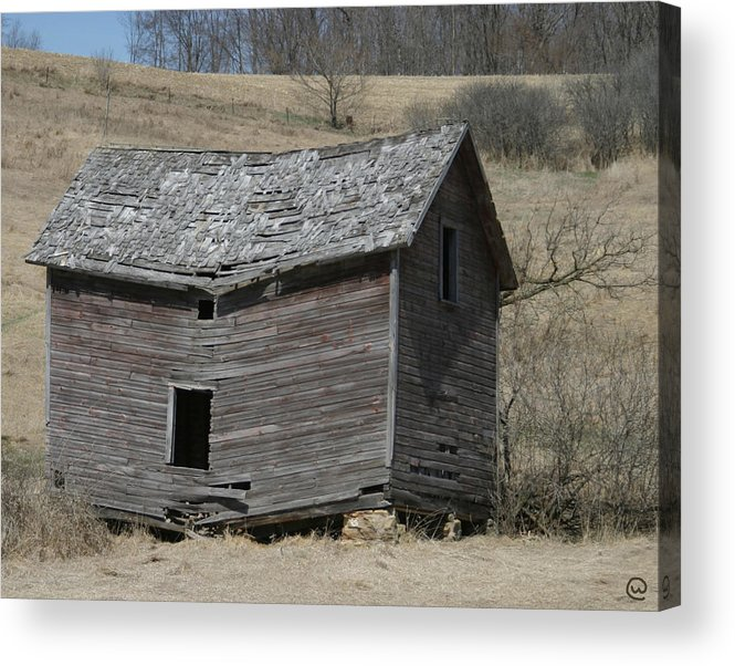 Old Barns Acrylic Print featuring the photograph Breaking Up by Bjorn Sjogren