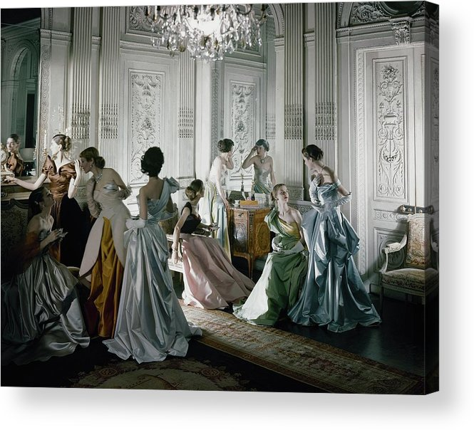 Antique Acrylic Print featuring the photograph Charles James Gowns by Cecil Beaton
