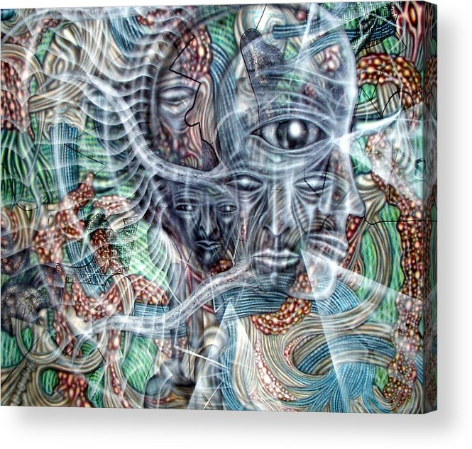 Surreal Acrylic Print featuring the painting Circuitry II by Leigh Odom