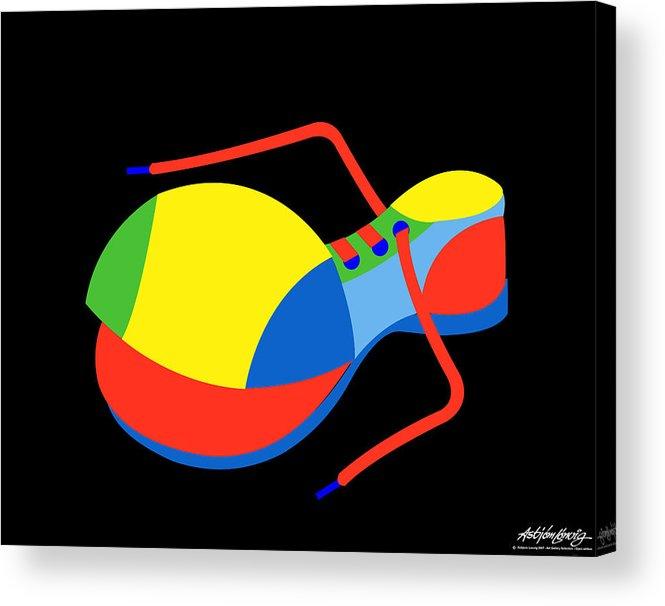 Clown Acrylic Print featuring the digital art Clown Shoe by Asbjorn Lonvig