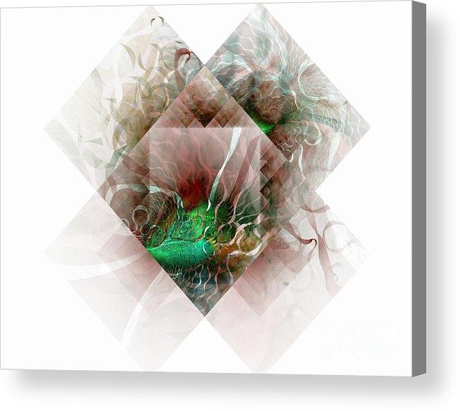 Digital Art Acrylic Print featuring the digital art Coastal Memoirs by Amanda Moore