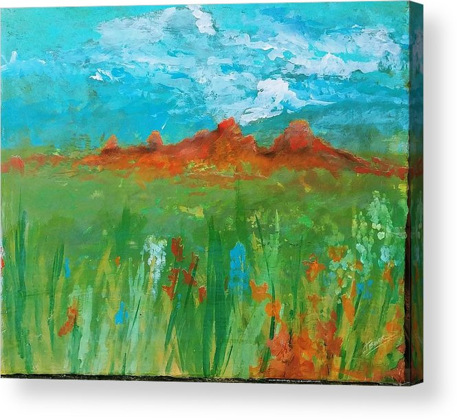 Colorado Acrylic Print featuring the painting Colorado Spring by J Bauer