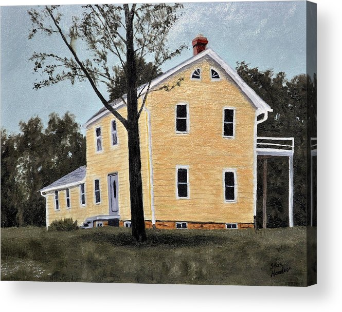 Building Acrylic Print featuring the painting Dads House by Stan Hamilton