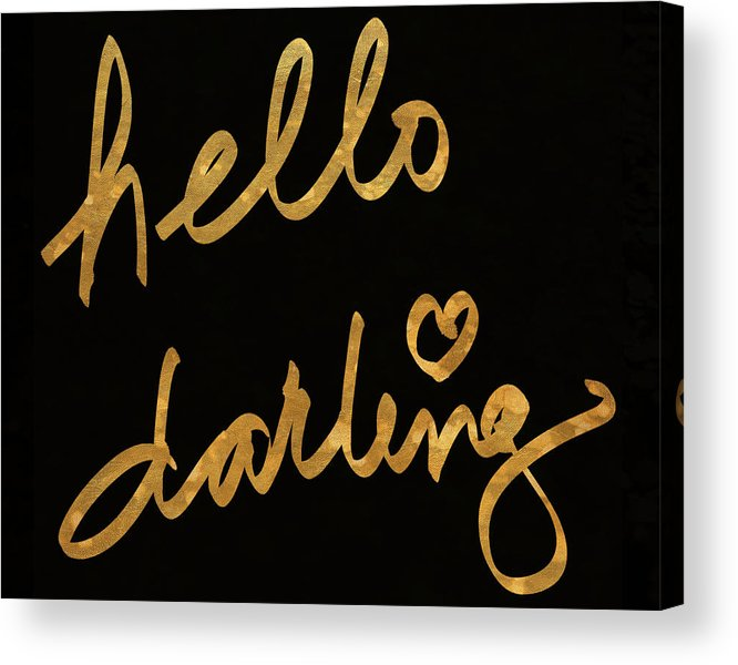 Darling Acrylic Print featuring the painting Darling Bella I by South Social Studio
