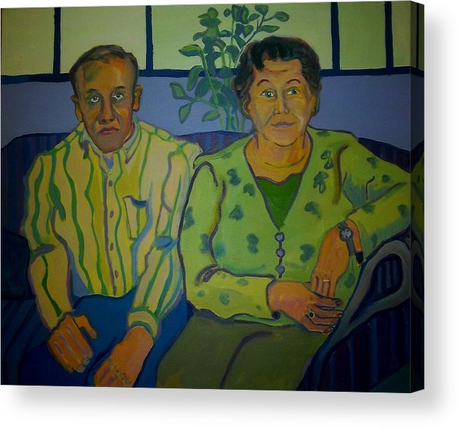 Older Couple Acrylic Print featuring the painting Dottie And Jerry by Debra Bretton Robinson