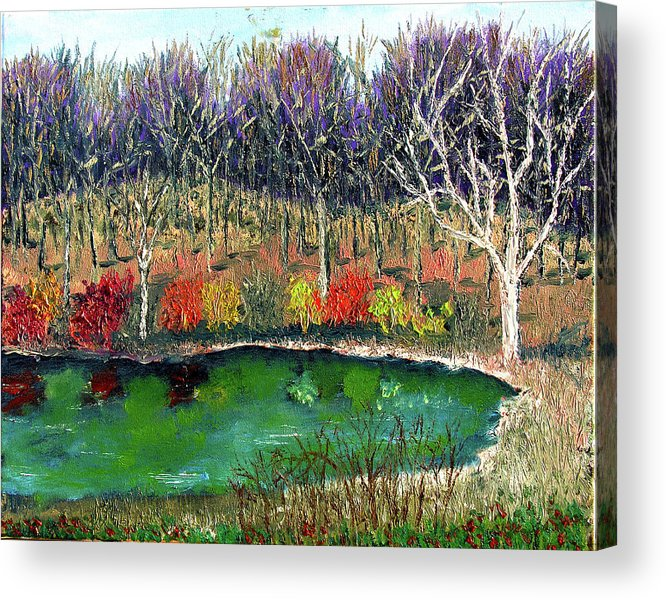 Plein Air Acrylic Print featuring the painting Ecp 11 14 by Stan Hamilton