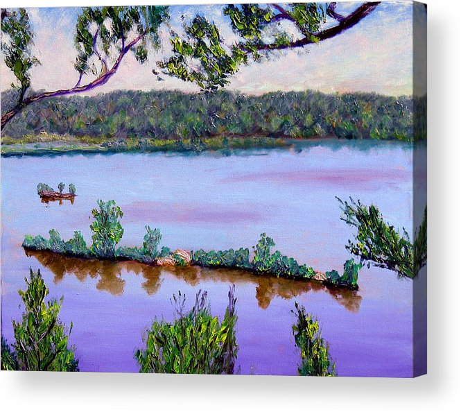 Original Oil On Canvas Acrylic Print featuring the painting Ecp 6-1 by Stan Hamilton