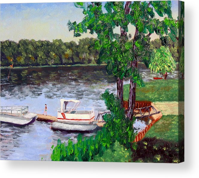 Original Oil On Canvas Acrylic Print featuring the painting Ecsp 8-24 by Stan Hamilton