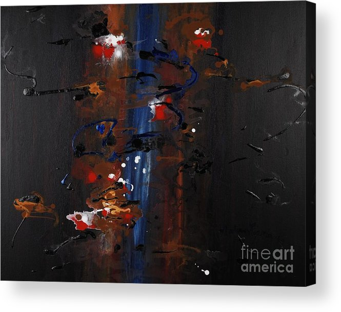 Black Acrylic Print featuring the painting Energy by Nadine Rippelmeyer
