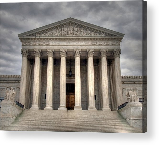 Law Acrylic Print featuring the photograph Equal Justice by Mitch Cat