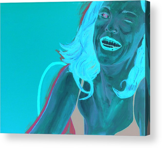 Red Head Acrylic Print featuring the painting Erin Winking by Kevin Callahan