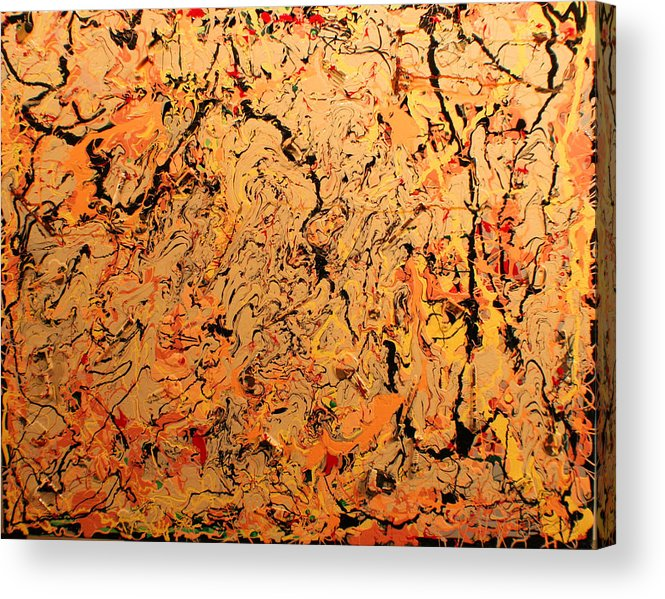 Color And Creative Movement Acrylic Print featuring the painting Ferramenta by Biagio Civale