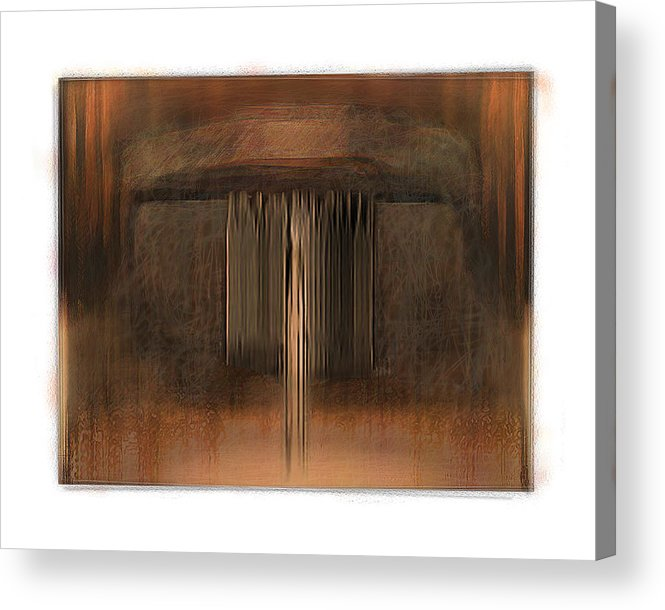 Abstract Acrylic Print featuring the digital art First Up Best Dressed by Nuff