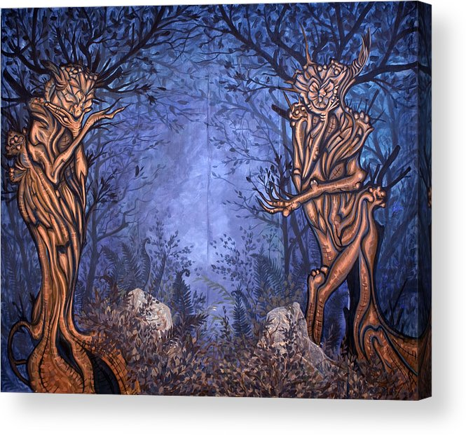 Mystic Acrylic Print featuring the painting Forest by Judy Henninger