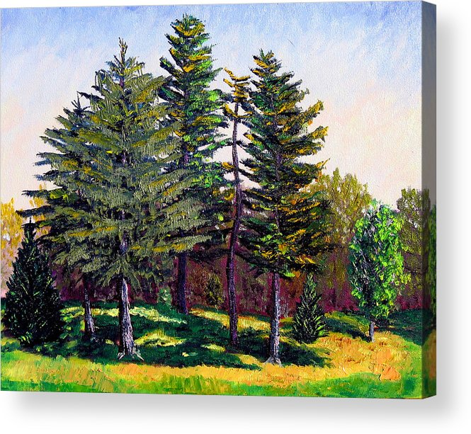 Landscape Acrylic Print featuring the painting Garfield Trees by Stan Hamilton