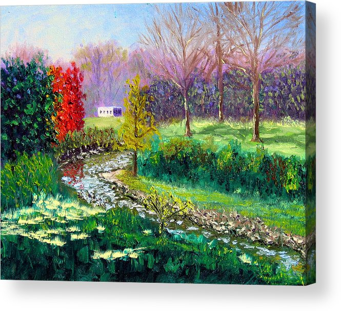 Original Oil On Canvas Acrylic Print featuring the painting Gp 10-18 by Stan Hamilton