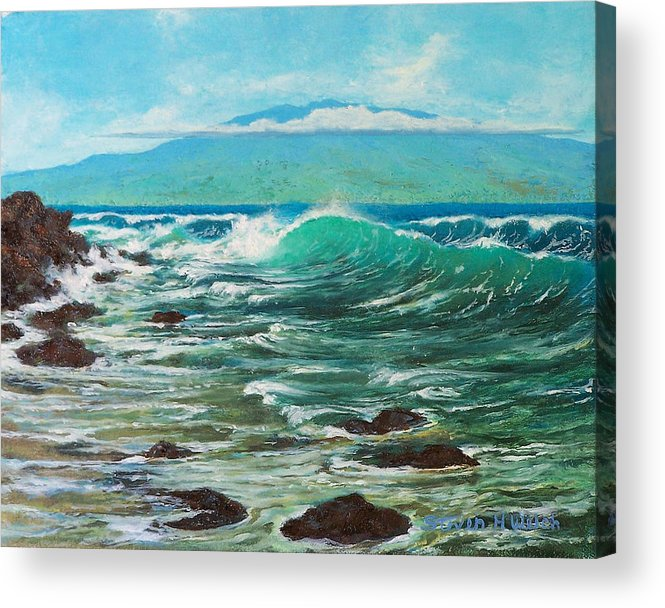 Painting Acrylic Print featuring the painting Haleakala by Steven Welch