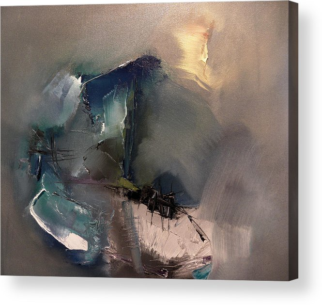 Abstract Acrylic Print featuring the painting Her Fragrance Shall Be His Breath by Stefan Fiedorowicz