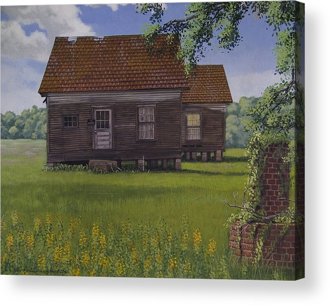 Landscape Acrylic Print featuring the painting Historical Warrenton Farm House by Peter Muzyka