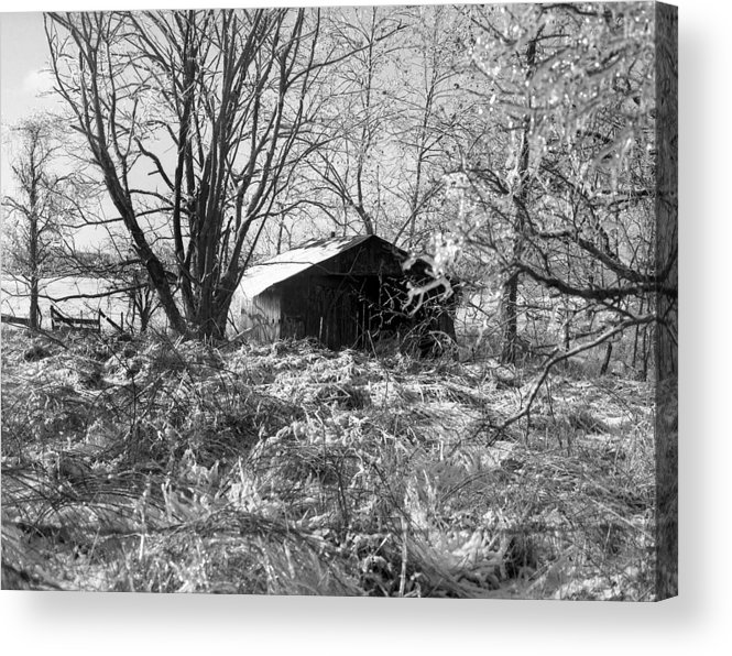 Winter Acrylic Print featuring the photograph Icy-barn by Curtis J Neeley Jr