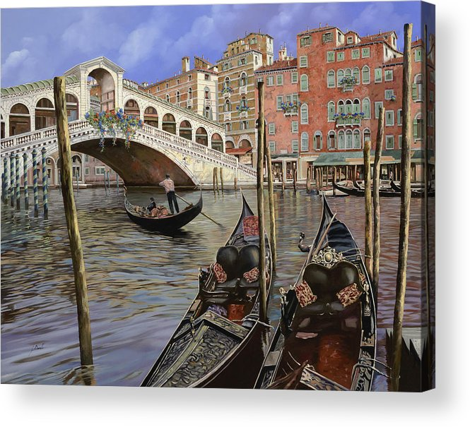 Venice Acrylic Print featuring the painting Il Ponte Di Rialto by Guido Borelli
