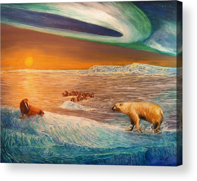 Walrus Acrylic Print featuring the painting Impending Threat by Dianne Roberson
