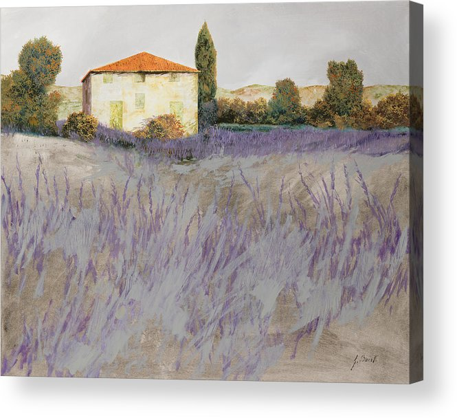 Lavender Acrylic Print featuring the painting Lavender by Guido Borelli