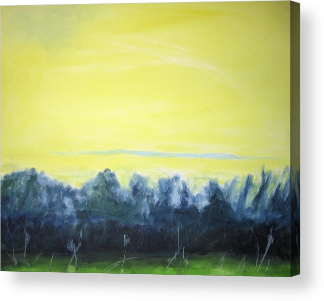 Acrylic Print featuring the painting Lemon Sunset by Ingrid Torjesen