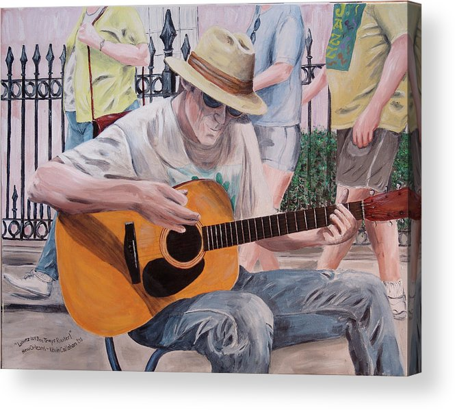 Kevin Callahan Acrylic Print featuring the painting Let the Good Times Roll-New Orleans Blues by Kevin Callahan