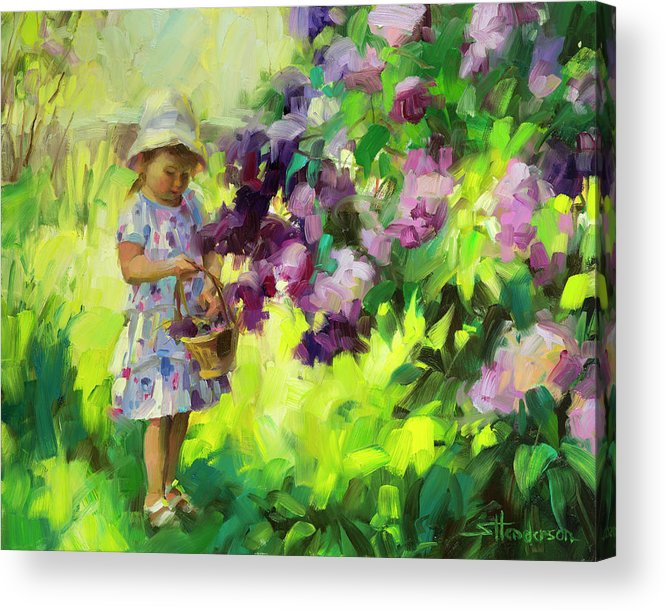 Spring Acrylic Print featuring the painting Lilac Festival by Steve Henderson