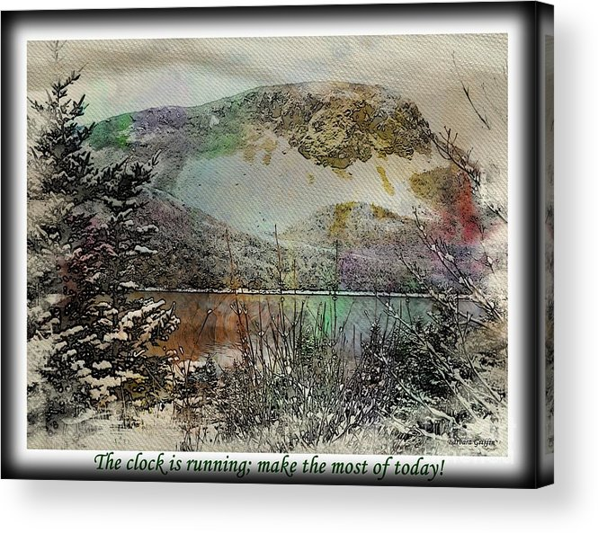 Make The Most Of Today Acrylic Print featuring the photograph Make The Most of Today by Barbara Griffin