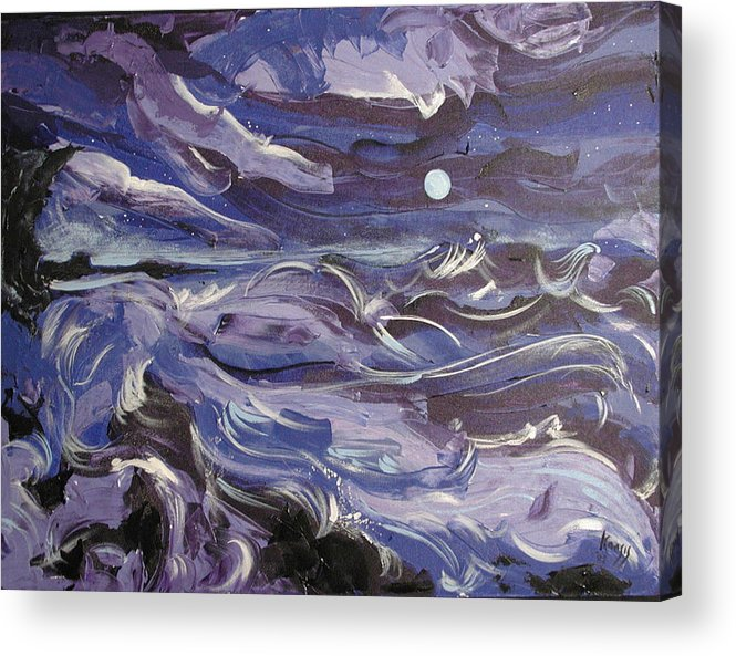 Sea Acrylic Print featuring the painting Mar Bravo by Rollin Kocsis