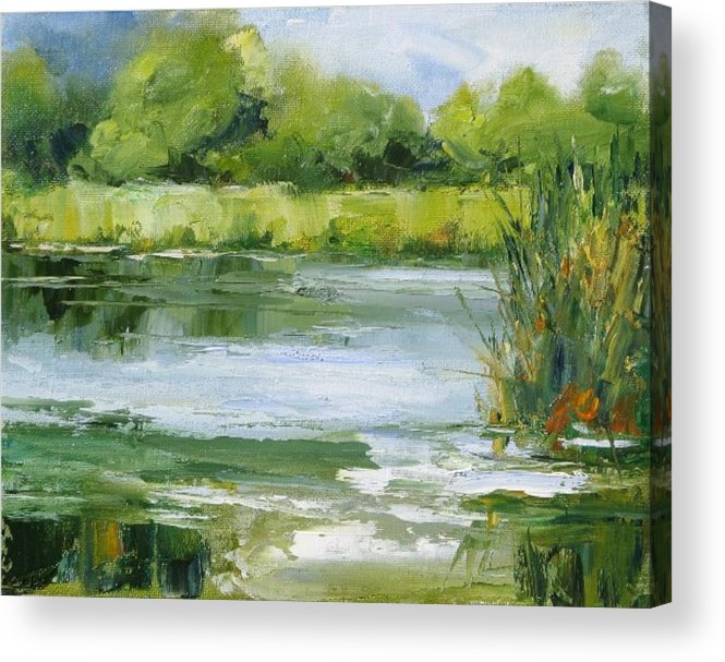 Plein Air Landscape Acrylic Print featuring the painting Marsh Inlet by Barrett Edwards
