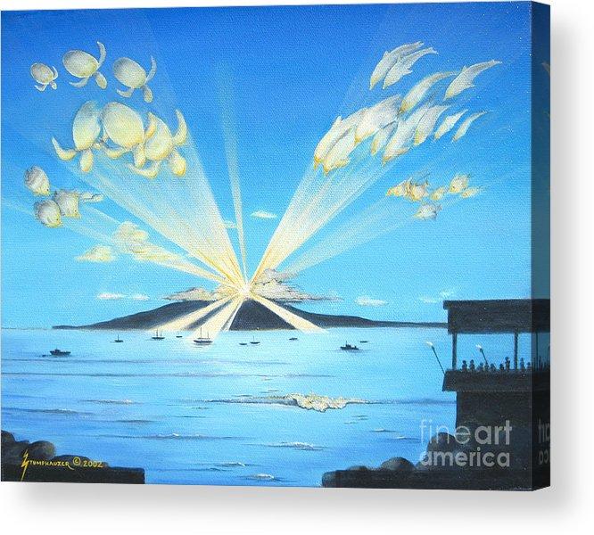 Maui Acrylic Print featuring the painting Maui Magic by Jerome Stumphauzer