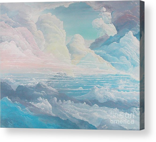 Cloudscape Acrylic Print featuring the painting May Colored Clouds by John Wise