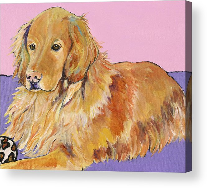 Golden Retriever Acrylic Print featuring the painting Maya by Pat Saunders-White