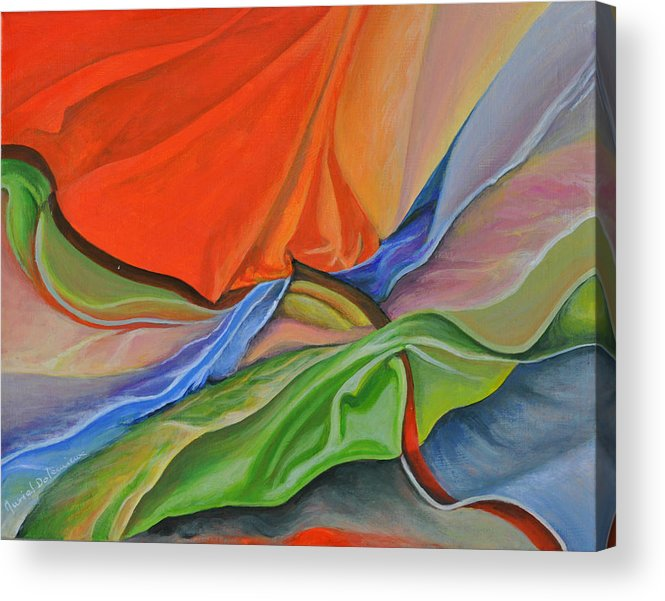 Still Life Acrylic Print featuring the painting Meli-Melo by Muriel Dolemieux