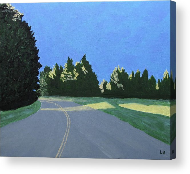 Landscape Acrylic Print featuring the painting Morning Light Uma by Laurie Breton