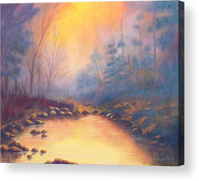 Sunrise Acrylic Print featuring the painting Morning Mist by Merle Blair