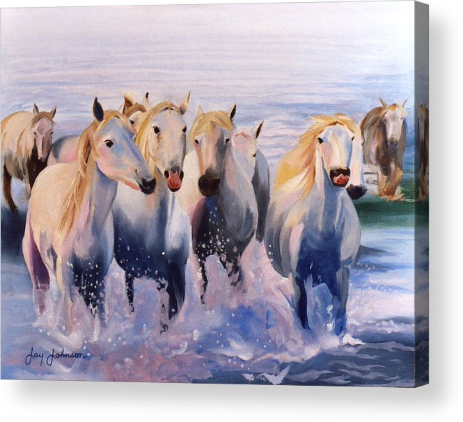 Acrylic Print featuring the painting Morning Run by Jay Johnson