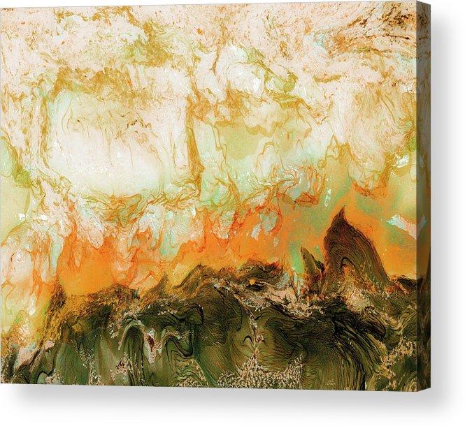 Paul Tokarski Acrylic Print featuring the photograph Mountain Flames II by Paul Tokarski