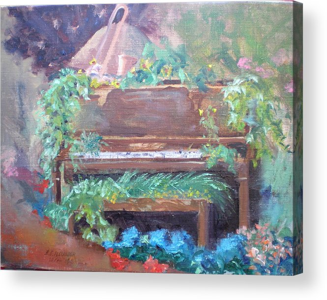 Garden Display Acrylic Print featuring the painting Music Mania by Bryan Alexander