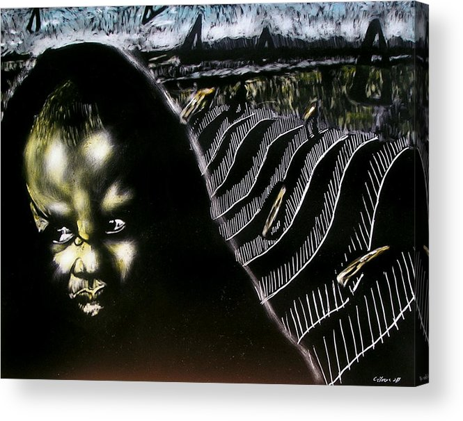 Acrylic Print featuring the mixed media Mystic Waves by Chester Elmore
