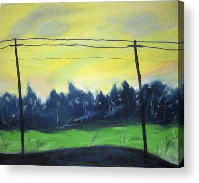Acrylic Print featuring the painting Napeague Road by Ingrid Torjesen